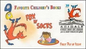 A0-3989-2, 2006, Favorite Children's Book Animals, FDC, Pictorial, SC 3989, Fox