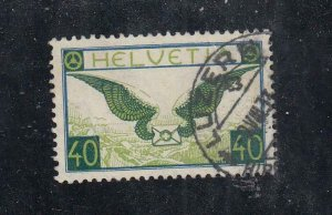 SWITZERLAND # C14 VF-PART LUZERN CANCEL CAT VALUE $82.50