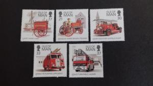 Isle of Man 1991 Fire Engines Mint