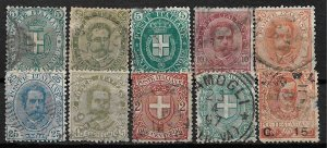 COLLECTION LOT OF 10 ITALY 1889+ STAMPS CV+$41