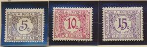 Belgian Congo Stamp Scott #J1//14, Used, 6 Different, 5 MH