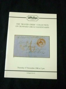 PHILLIPS AUCTION CATALOGUE 1988 'BEAVER CREEK' COLLECTION OF DOMINICA