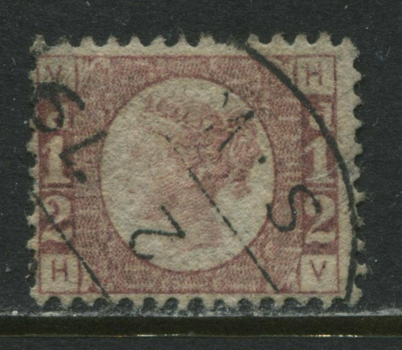 Great Britain 1870 1/2d Plate 1 choice used