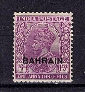 Bahrain 1933-37 George V Definitive 1a3p India optd.