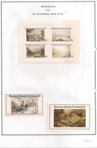 SCOTLAND - BERNERA - 1981 - Paintings (1) - 4v Perf, Min, D/L Sheets - MLH