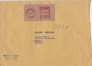 peru lima large commercial  machine cancel stamps cover ref r16017