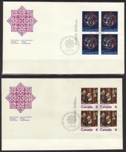 Canada 697-699 Christmas P/B 1976 S/3 U/A FDC