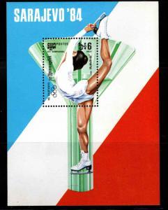 Cambodia Scott 469 MNH** Winter Olympic  Sarajevo souvenir sheet