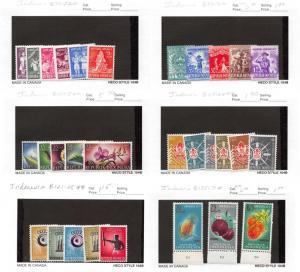 Lot of 42 Indonesia MNH & MH Semi-Postal Stamps Range B69 - B145 #142380 X R