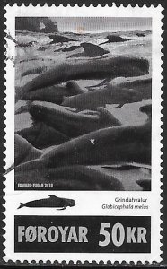 Faroe Islands 524 Used - Long-Finned Pilot Whale (‭Globicephala Melas)