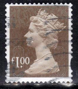 GB 2015 QE2 £1 Bistre Brown Security Machin ( M15L ) SG U2934 ( R823 )