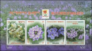 Bangladesh 2017 Sc 870 FN Flowers Wildflower purple
