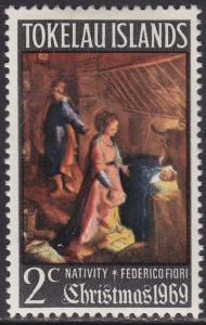 Tokelau Islands 20 Nativity Scene 1969