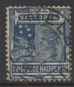 VICTORIA SG335 1899 2½d BLUE USED
