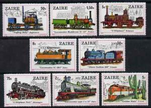 Zaire 1980 Locomotives perf set of 8 unmounted mint SG 97...