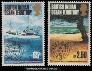 British Indian Ocean Territory Scott 57-58 Mint never hinged.