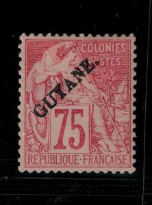 French Guiana 1892 29 Mint SCV $145.00