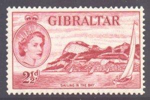 Gibraltar Scott 136 - SG149, 1953 Elizabeth II 2.1/2d MH*