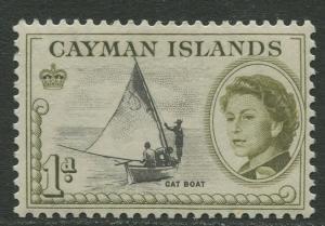 Cayman Islands - Scott 154 - QEII Definitive -1962 - MVLH- Single 1d  Stamp