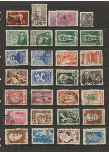 Brazil  #Various Mint/Used 1  Page of 29 Stamps