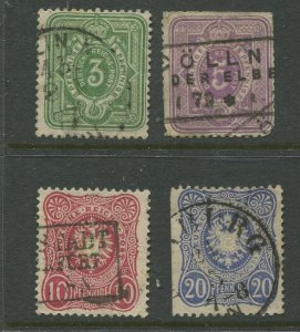 STAMP STATION PERTH Germany #29-32 with the E Used 1875 See scan