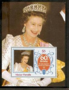 Tuvalu - Niutao 1986 Royal Queen Elizabeth Birth Day Sc 48 M/s Perforated MNH...