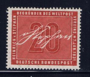 Germany 738 Hinged 1956 issue