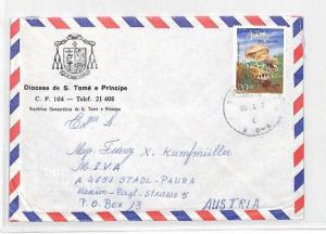 CA254 S. Tome e Principe Airmail Cover MISSIONARY VEHICLES PTS