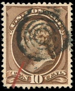 momen: US Stamps #209b Used XF APS Cert