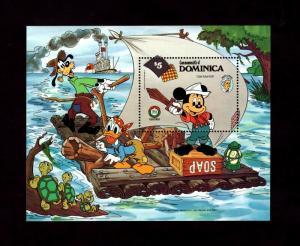 DOMINICA - 1985 - DISNEY - TOM SAWYER - MICKEY - DONALD - MINT - MNH S/SHEET!