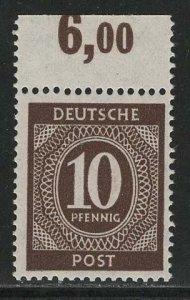 Germany AM Post Scott # 537, mint nh, var. flat press print