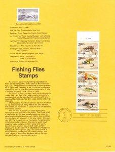 US SP957 Fishing Flies Souvenir Page #2549a