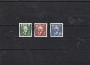 sweden 1938 mounted mint stamps set cat £21  ref 7282