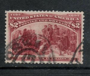 USA #242 Very Fine Used