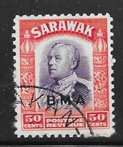 Sarawak 148: 50c Sir Charles Vyner Brooke overprint, used, F-VF