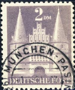ALLEMAGNE / GERMANY Bizone 1948 Mi.98.YIIB(98.IIwg) 2DM T.2 p.11 - VF Used (g)