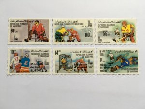 MAURITANIA 1980 671-76 440-45 Winter Olympics Lake Placid ovp MNH