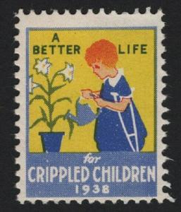 UNITED STATES 1938 Crippled Children CINDERELLA  - BARNEYS