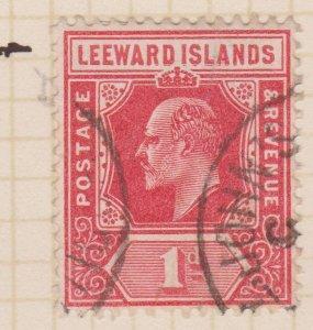 Leeward Islands Sc#43 Used Variety - Name Double Printed