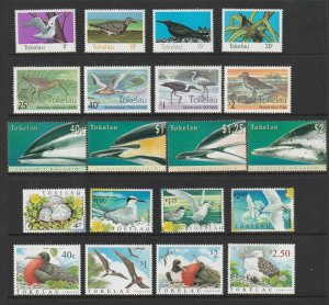 Tokelau x 5 MNH sets all thematic