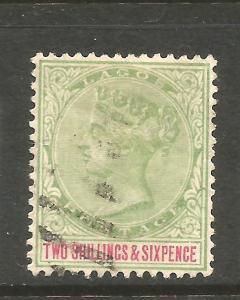 LAGOS  1887-02   2/6d   QV  FU  SG 39
