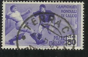 ITALIA REGNO ITALY KINGDOM 1934 COPPA MONDIALE CALCIO SOCCER FOOTBALL CUP CEN...