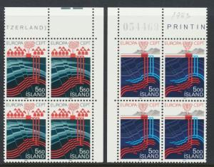 ICELAND 1983, THERMAL ENERGY SET, VF NH Sc#573-4 (SEE BELOW)