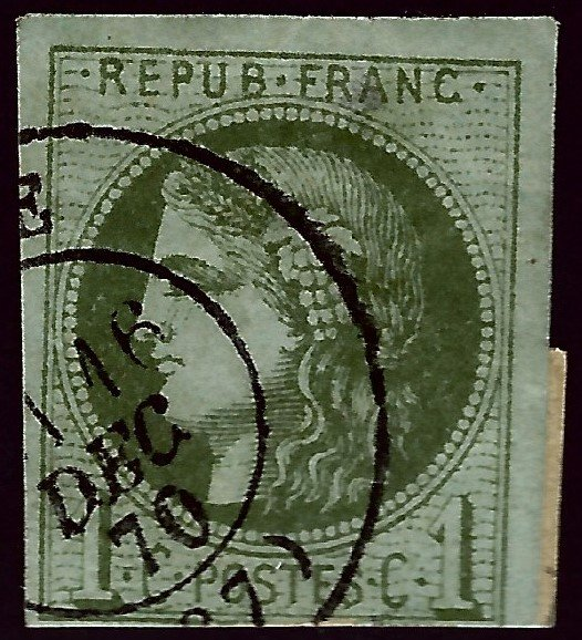 France Sc #38a Used F-VFSCV$150...French Stamps are Iconic!