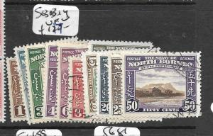NORTH BORNEO (P2903B)  SET TO 50C  SG 303-314  VFU