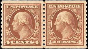 495 Mint,OG,HR... Line Pair... SCV $75.00