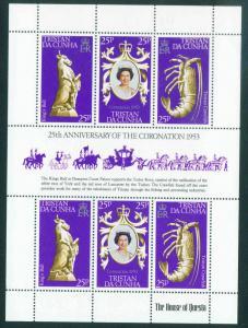Tristan da Cunha Scott 238 Coronation Sheet 1977