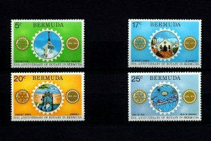 BERMUDA - 1974 - ROTARY - 55th ANNIVERSARY - CHURCH  - BRIDGE - MINT - MNH SET!