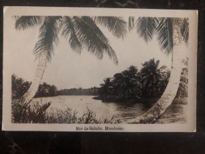 1939 La Ceiba Honduras RPPC Postcard Cover To London England Salado River