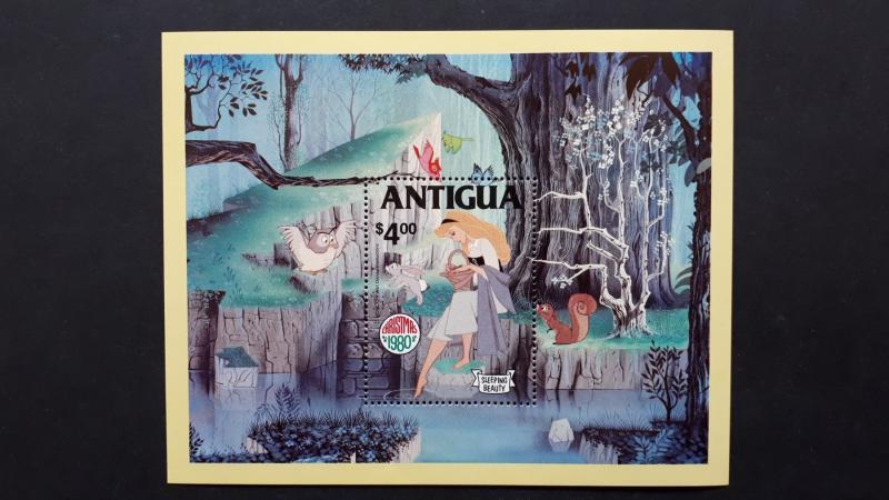 Disney - Antigua - Christmas 1980. ** MNH Block